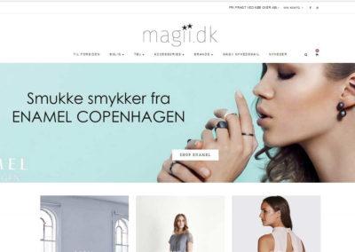 Konceptudvikling Magii.dk webshop