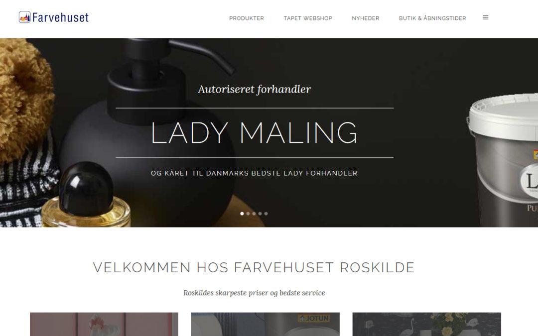 Nyt website til Farvehuset Roskilde